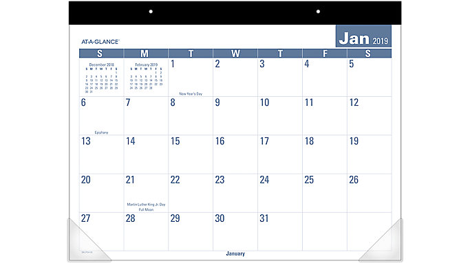 AT-A-GLANCE Easy to Read Monthly Desk Pad  (SKLP24)