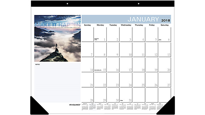 AT-A-GLANCE Successories Motivational Desk Pad  (SKW800)