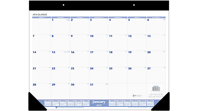 AT-A-GLANCE Monthly Desk Pad  (SW200)