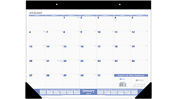 monthly desk pad sw200 at a glance