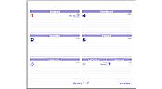 Flip-A-Week Desk Calendar and Base (Item # SW700X)