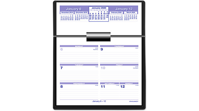 AT-A-GLANCE Flip-A-Week Desk Calendar Refill  (SW705X)