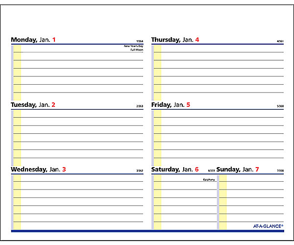 Quicknotes Flip A Week Refill Sw706 At A Glance