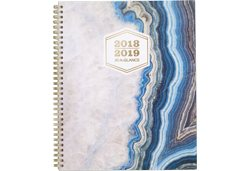 AT-A-GLANCE Sapphire Blue Agate Stone Design Planner
