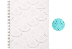 AT-A-GLANCE Serene Blue Diamond or Cream Scallops Planner