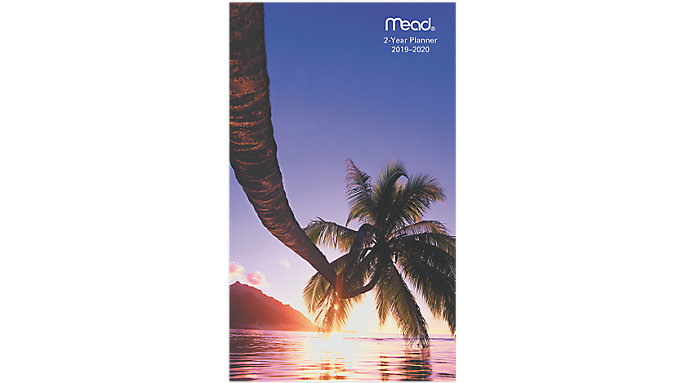Mead Tropical 2-Year Monthly Pocket Planner  (TL2570)