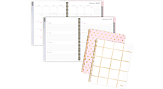 basic weekly monthly poly planner with tabs tld486 mead