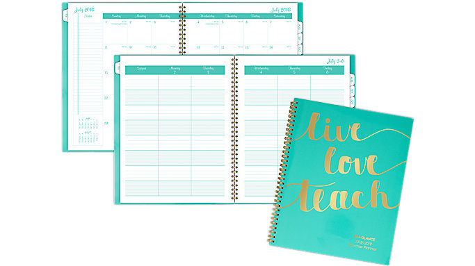 AT-A-GLANCE Weekly-Monthly Teacher Planner  (TP905A)