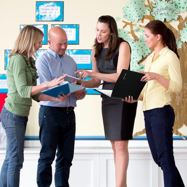 Teachers conversing