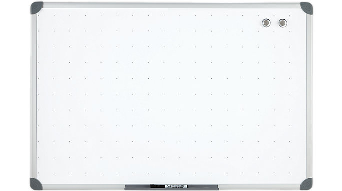 Magnetic Dry Erase Board with Euro Frame 3x2 | UKTE2436-W | Quartet