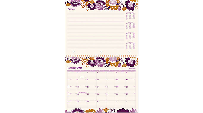 AT-A-GLANCE Ingrid Monthly Wall Calendar  (W1042-170)