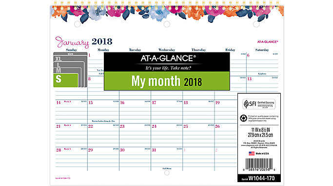 AT-A-GLANCE Eva Monthly Wall Calendar   (W1044-170)