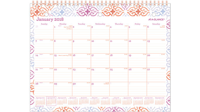 AT-A-GLANCE Cecilia Monthly Wall Calendar  (W1050-709)