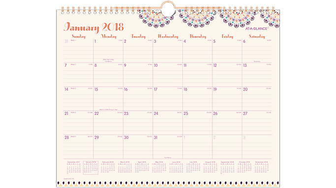 AT-A-GLANCE Sun Dance Monthly Wall Calendar  (W1051-707)