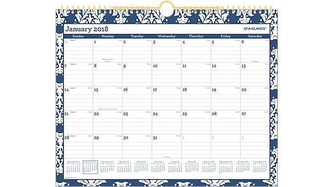 AT-A-GLANCE Keira Monthly Wall Calendar  (W1065-707)