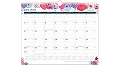 Midnight Rose Academic Monthly Wall Calendar (Item # W1101-707A)