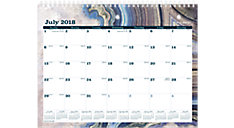 Sapphire Academic Monthly Wall Calendar (Item # W1106-709A)
