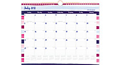 Carousel Academic Monthly Wall Calendar (Item # W1112S-707A)