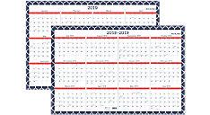 Emma Morrocan Academic-Regular Year Erasable Wall Calendar (Item # W1116M-550S)
