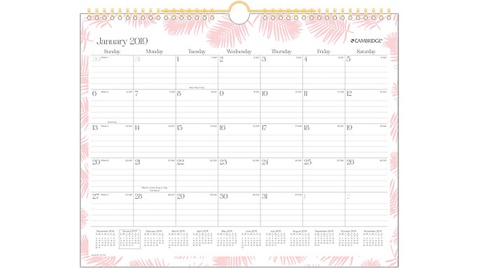 Cambridge Beverly Monthly Wall Calendar  (W1133-707)