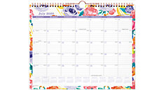 BADGE Floral Academic Monthly Wall Calendar (Item # W1408-707A)