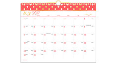 Color Pop Academic Monthly Wall Calendar (Item # W173-707A)