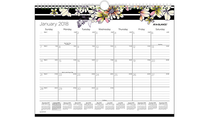 AT-A-GLANCE Monique Monthly Wall Calendar  (W178-707)