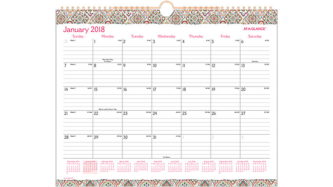 AT-A-GLANCE Marrakesh Monthly Wall Calendar  (W182-707)