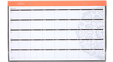 Organizher Academic Compact Monthly Desk Pad (Item # WAM105)