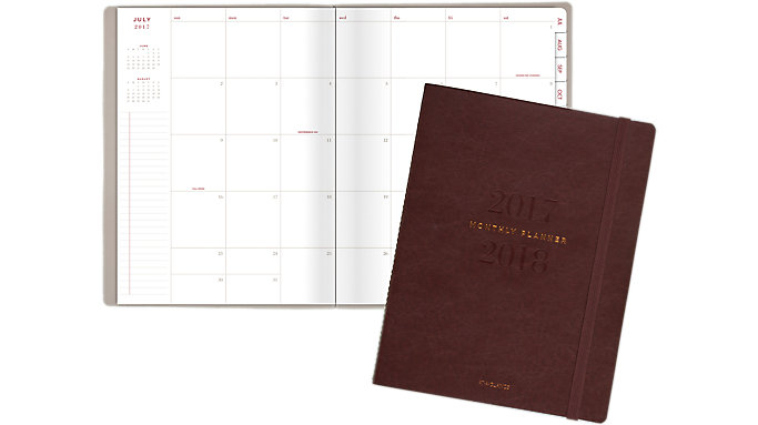 AT-A-GLANCE Collection Academic Bookbound Monthly Planner  (YP109A)