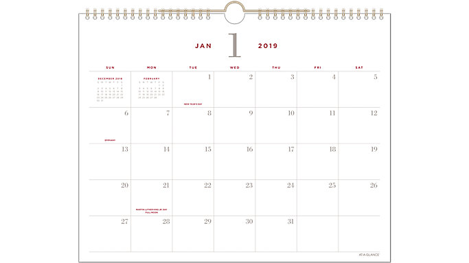 AT-A-GLANCE Signature Collection Monthly Wall Calendar  (YP707)