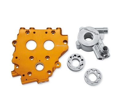 Cam Support Plate with High Volume Oil Pump