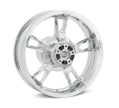 Mirror Chrome Enforcer 16 in  Rear Wheel - 40900346   Harley