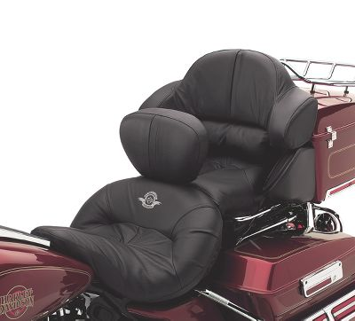 road zeppelin air adjustable seat | two-up seats | official harley