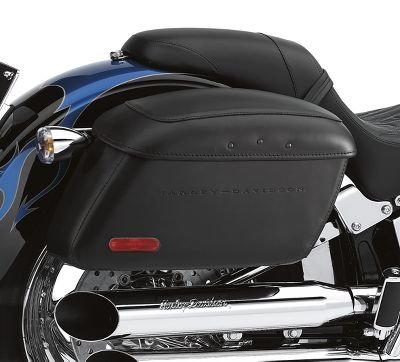 locking leather covered rigid saddlebags | saddlebags | official
