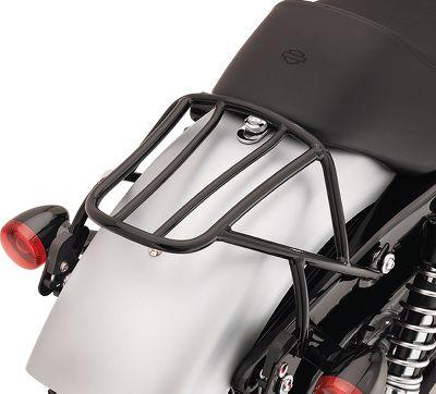 Black Detachable Luggage Rack For Stock Rear Solo Seat Harley Custom Sportster XL 883 1200