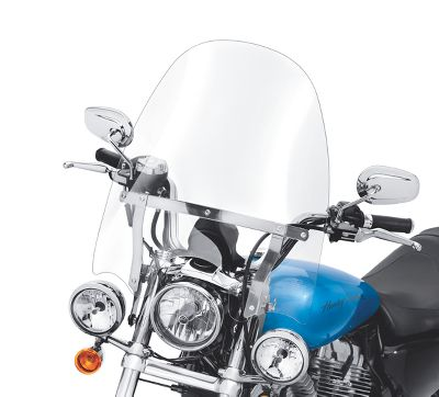 Harley Davidson Windshields >> H D Detachables Compact Windshield