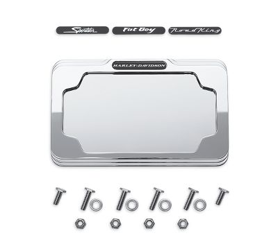 billet license plate frame 60060 04 rear end trim official harley davidson online store