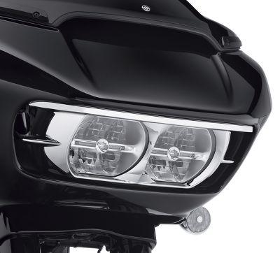 Chrome Road Glide headlight bezel