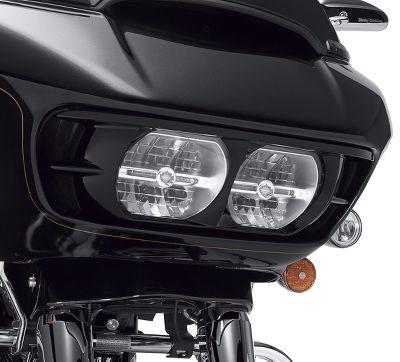 Matte Black Dual Headlight Fairing Bezel Scowl Cover Harley Davidson Road Glide