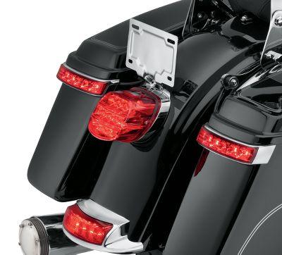 Electra Glo Led Saddlebag Run Brake Turn Lamp Chrome Housing Red