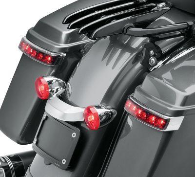 Electra Glo Led Saddlebag Run Brake Turn Lamp Chrome Housing