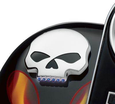 Skull LED Fuel Gauge - 75098-08A | Harley-Davidson USA on
