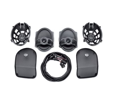 Pairs Black Waterproof Lid Covers Audio Speaker Lid For Harley Touring Saddlebag Electra Road Glide Motorbike Motorcycle Accessories & Parts