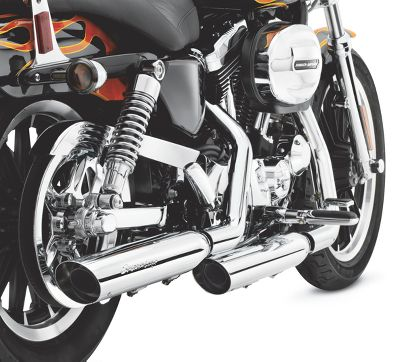 2013 sportster iron 883 xl883n parts accessories harley davidson usa shorty dual slip on mufflers fandeluxe Choice Image