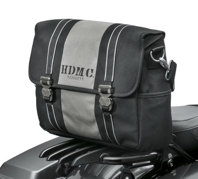 hdmc messenger bag - black/silver | luggage | official harley