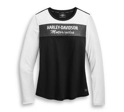 Harley-Davidson Mens Rubber Print Long Sleeve Tee
