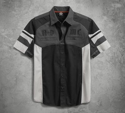 men's performance vented tonal colorblock shirt | short sleeve