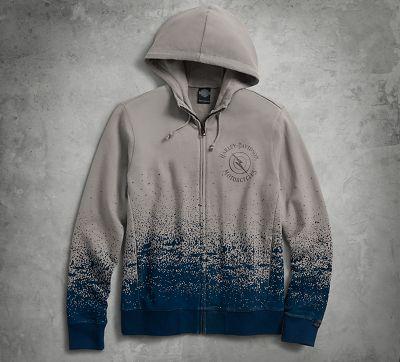 men's ombre splatter hoodie | hoodies | official harley-davidson