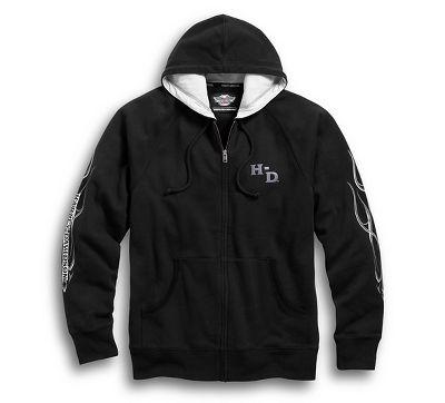 men's pinstripe flames hoodie | bar & shield | official harley